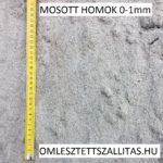 Vakoló homok 0-1 mm mosott homok szállítás ár.