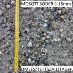 Mosott osztályozott sóder ár 0-16 mm szállítás.