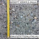 Mosott osztályozott sóder szállítás ár 0-24 mm.