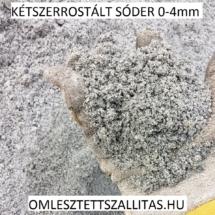 Sóder 0-4 mm, kétszer rostált sóder ár szállítás.