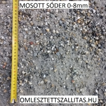 Mosott sóder szállítás ár 0-8 mm. Estrich sóder ár.