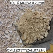 Töltő murva 0-20 mm poros murva szállítás ár.