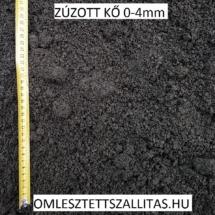 Bazalt kőzúzalék szállítás ár 0-4 mm.