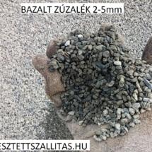 Bazalt kőzúzalék szállítás ár 2-5 mm. Bazalt ágyazó.