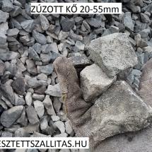 Zúzott bazalt kő 20-55 mm szállítás ár.