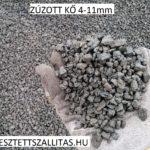 Zúzott bazalt ár szállítás 4-11mm.