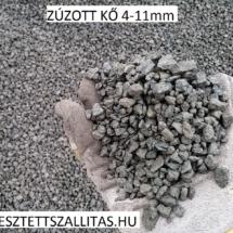 Zúzott bazalt kő szállítás 4-11 mm ár.